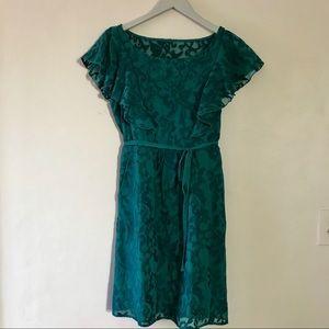 Anthropologie Flutter Sleeve Mini Dress